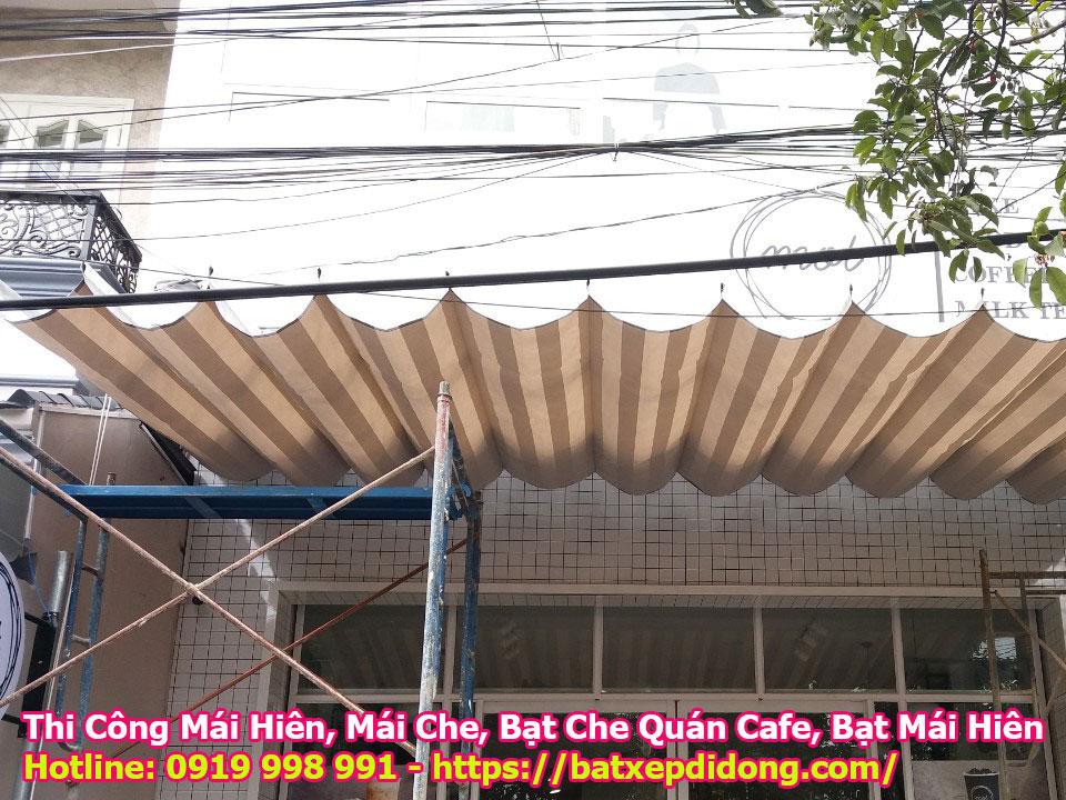 Làm mái xếp mái hiên di động Nhà Bè tphcm che nắng giá rẻ