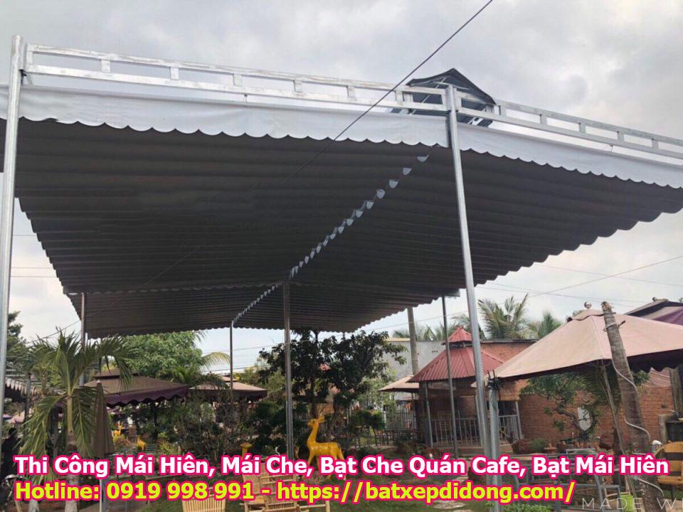 Bạt Che Nắng Mưa Quán Cafe Quận Bình Thạnh TPHCM, Mái Hiên Di Động Cho Quán Cafe Đẹp