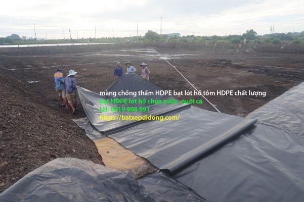 Bạt Lót Hồ Chứa Nước Nuôi Tôm, Nuôi Cá, Bạt Nhựa HDPE Lót Ao Chống Thấm Quảng Nam