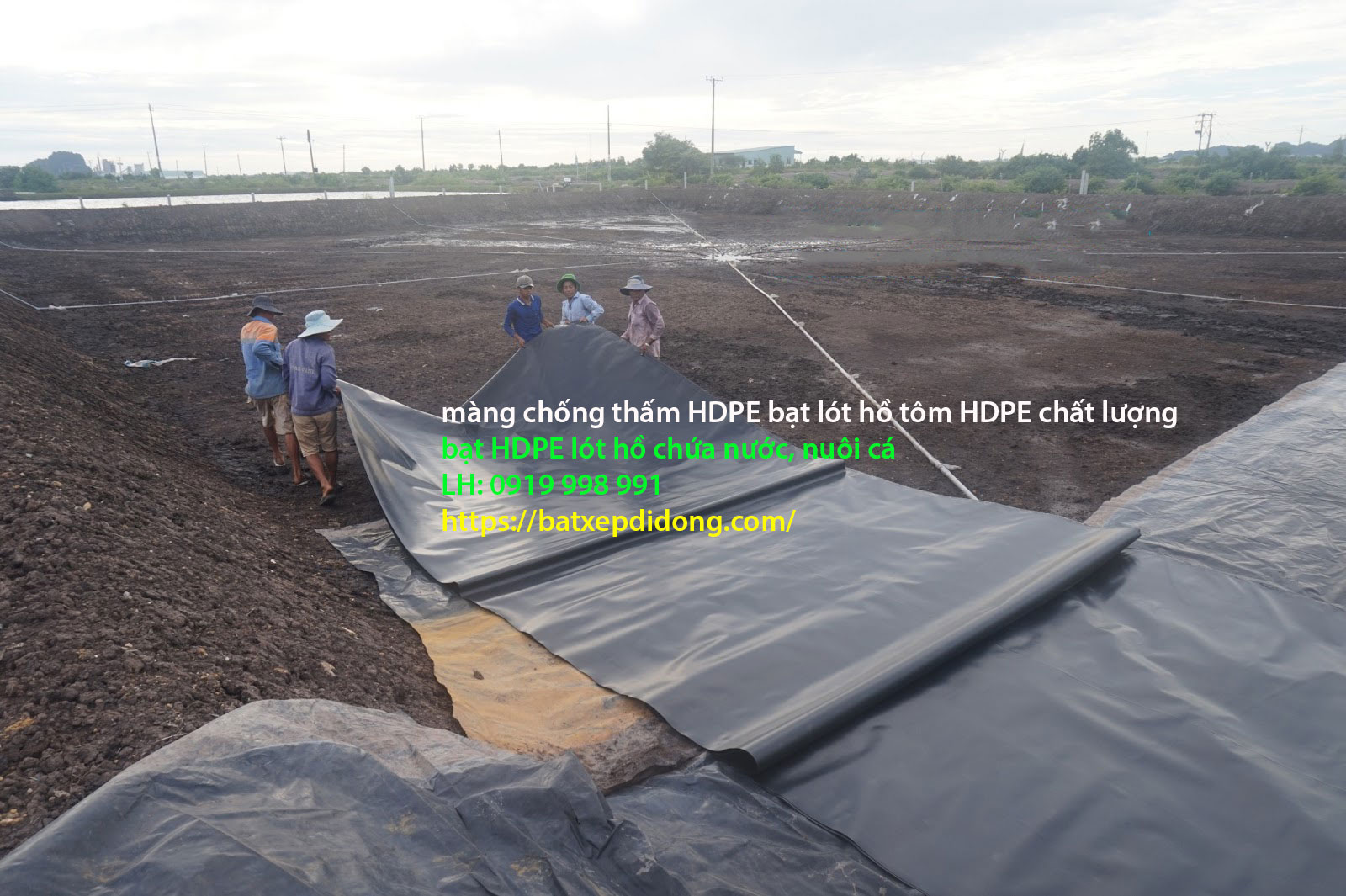 Bạt Lót Hồ Chứa Nước Đắk LắK - Bạt Nhựa HDPE Chống Thấm Giá Rẻ