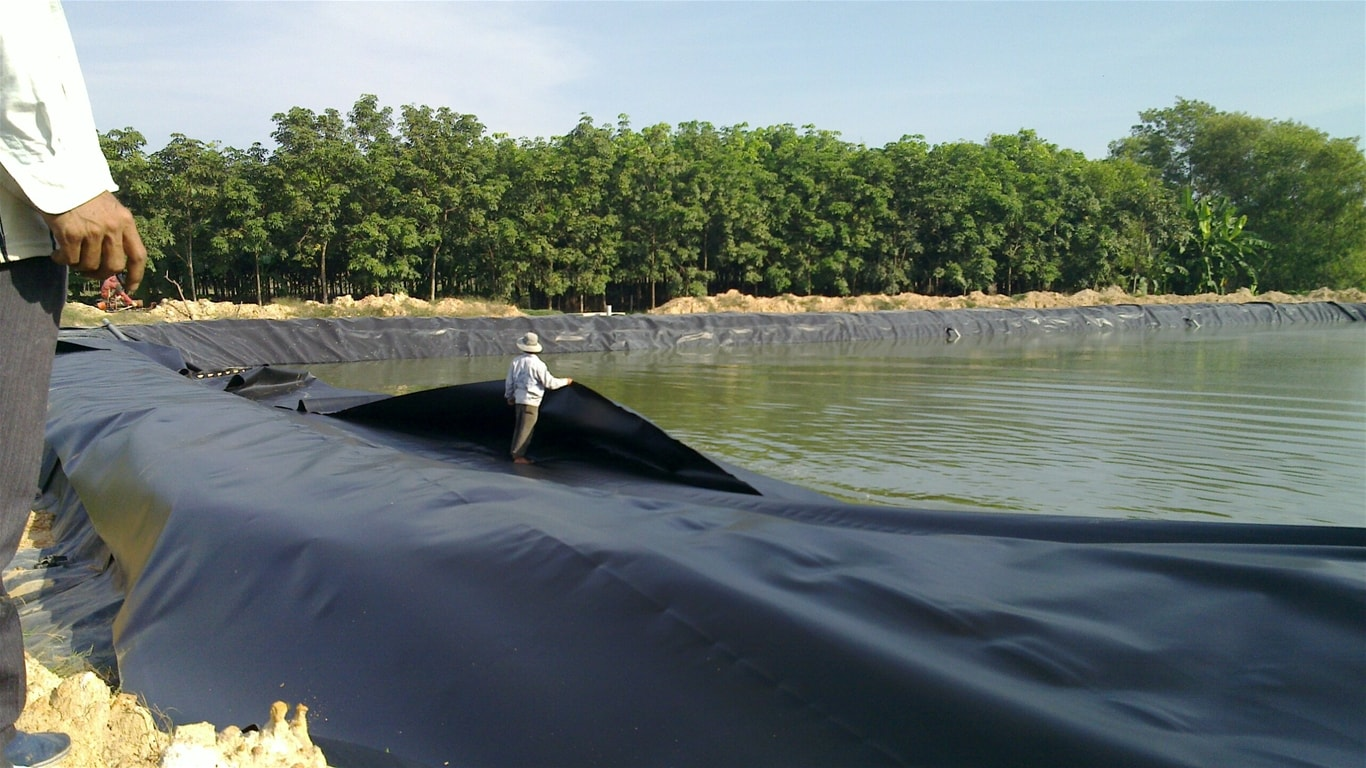 Bạt Lót Hồ Chứa Nước - Bạt Nhựa Chống Thấm Chứa Nước Nuôi Cá HDPE Giá Rẻ