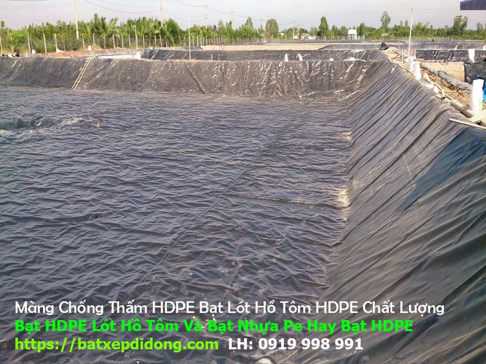Bạt Lót Hồ HDPE, Lót Hồ Chứa Nước, Nuôi Tôm, Bạt HDPE