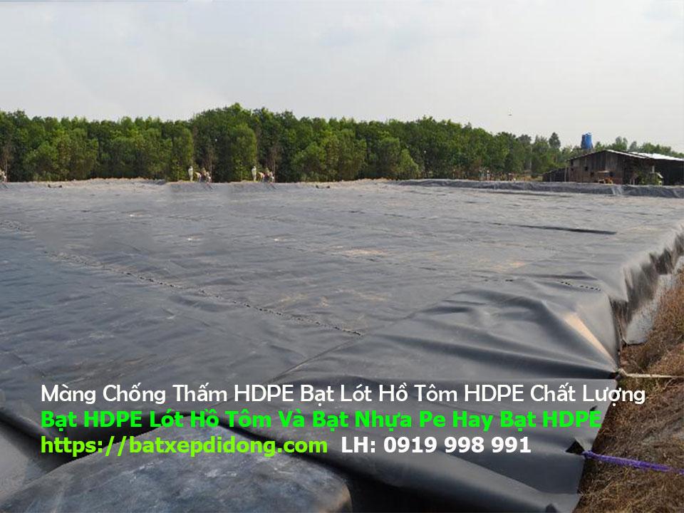 Bạt Lót Hồ Chứa Nước Gia Lai - Bạt Nhựa HDPE Chống Thấm Ao Hồ Nuôi Cá Giá Rẻ