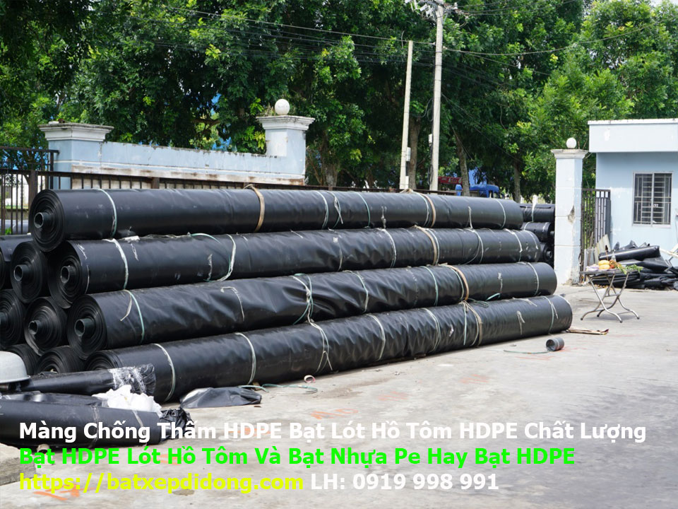 giá bạt đen nuôi tôm, Bạt HDPE lót hồ nuôi thủy sản