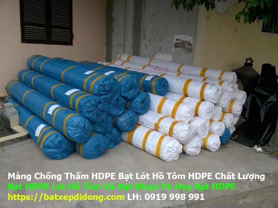 Màng chống thấm HDPE bạt lót hồ tôm hdpe chất lượng, Bảng báo giá màng chống thấm HDPE
