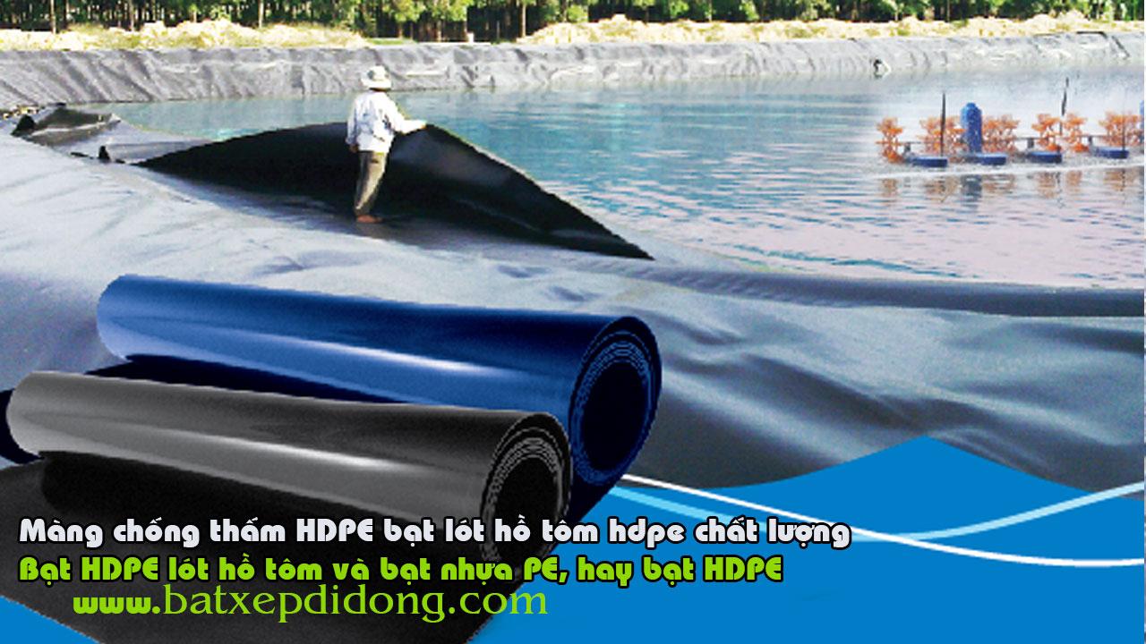 Bạt Lót Hồ HDPE - Màng Chống Thấm HDPE Ứng Dụng Làm Bạt Lót Hồ Nuôi Tôm, Cá