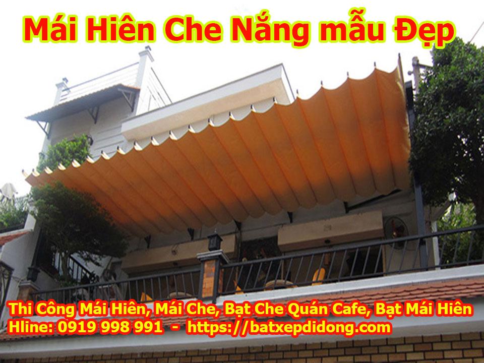 Làm mái xếp mái hiên di dộng tại dĩ an bình dương bạt che nắng giá rẻ