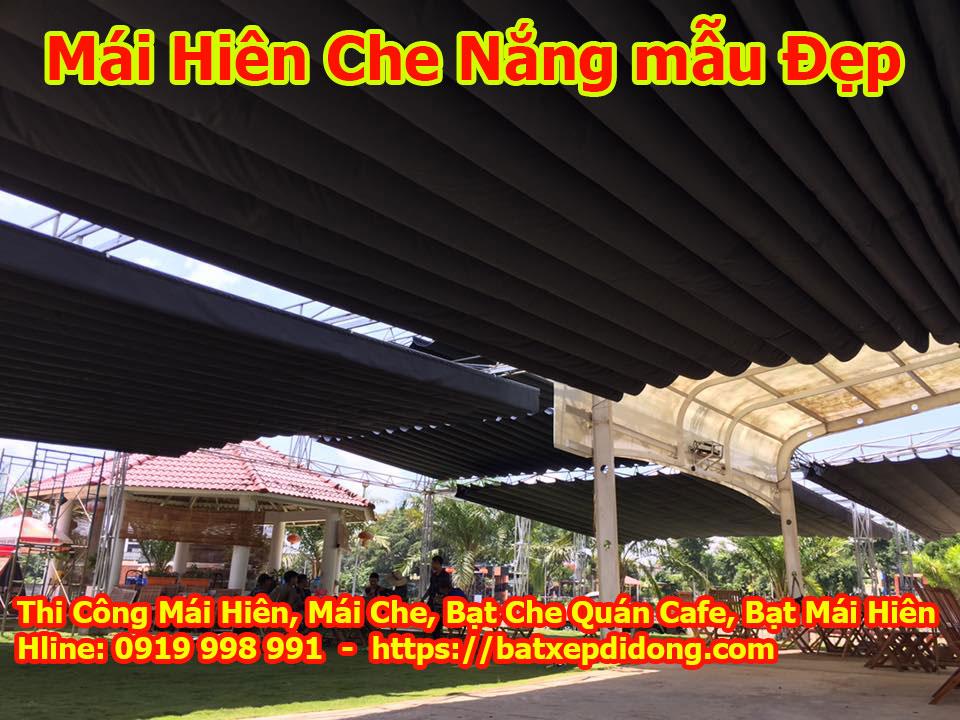 Làm mái xếp mái hiên di dộng tại biên hòa đồng nai bạt che nắng giá rẻ