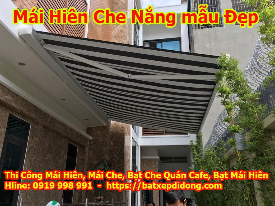 Làm mái xếp mái hiên di động gò vấp tphcm che nắng giá rẻ