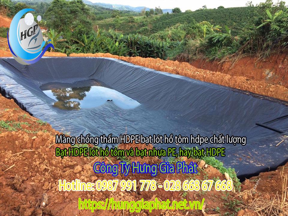 Địa Chỉ Bán Bạt Lót Hồ Chứa Nước Giá Rẻ Tại Tây Ninh, Bạt HDPE Lót Ao Chứa Nước Nuôi Cá