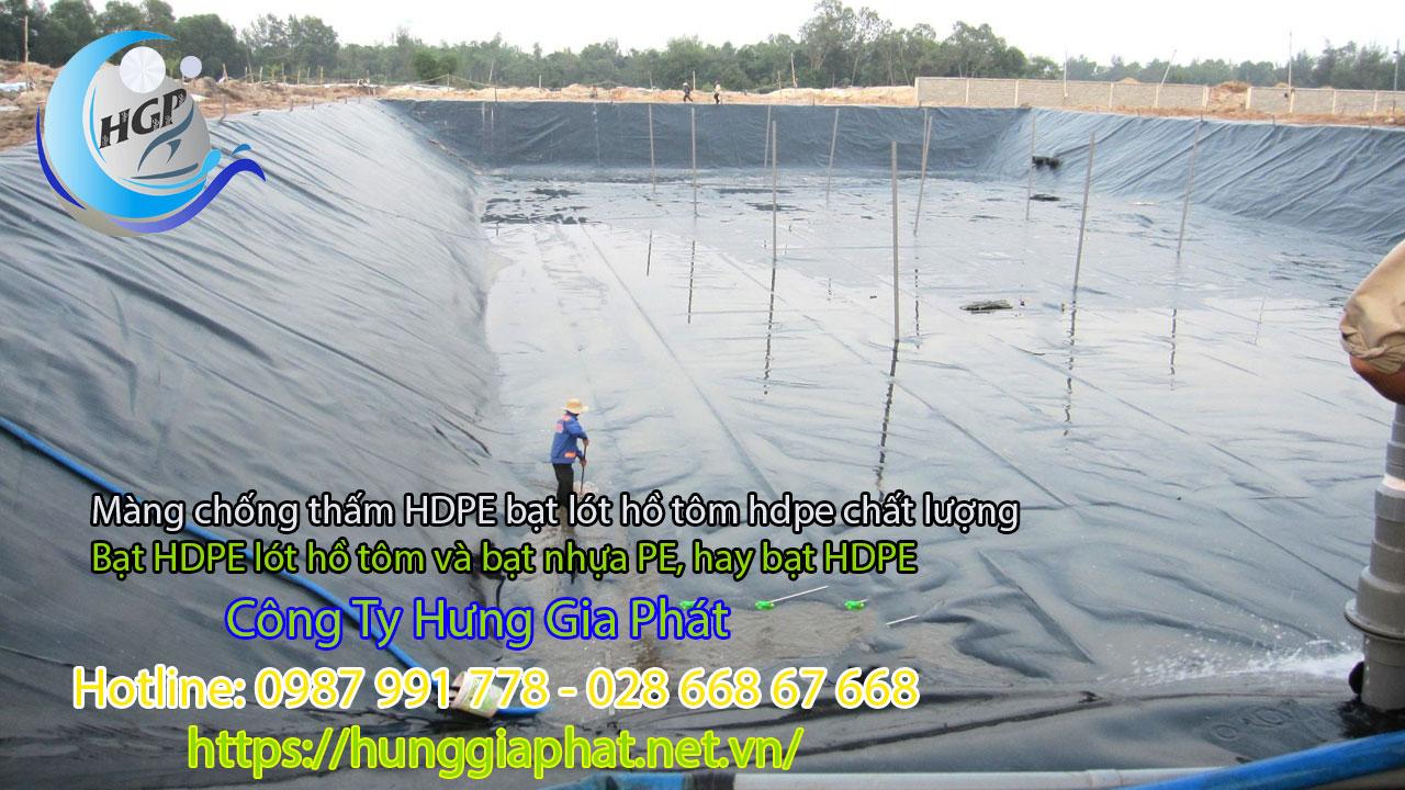 Địa Chỉ Bán Bạt Lót Hồ Chứa Nước Giá Rẻ Tại Đà Lạt, Bạt HDPE Lót Ao Chứa Nước Nuôi Cá
