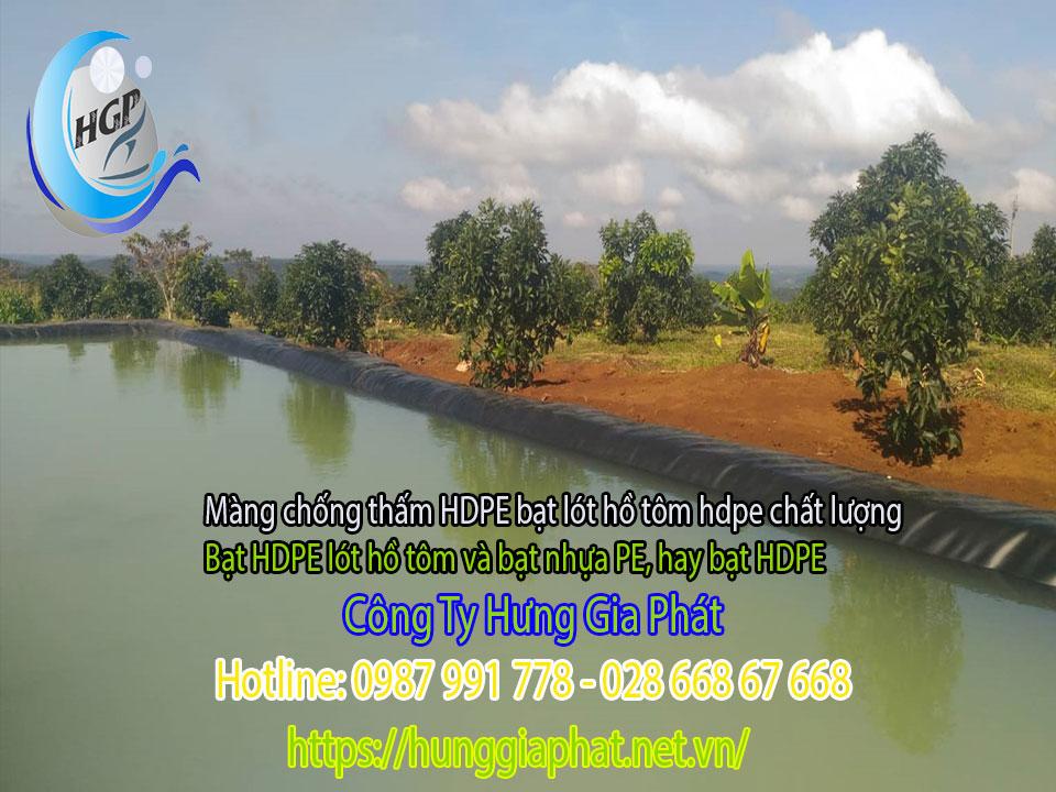 Địa Chỉ Bán Bạt Lót Hồ Chứa Nước Giá Rẻ Tại Đắk Lắk, Bạt HDPE Lót Ao Chứa Nước Nuôi Cá